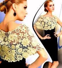 Resultado de imagen para aplicaciones tejidas a crochet para blusas
