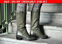 SALE - Victoria - Womens Winter Boots, Slip on Boots, Leather Boots, High Boots, Riding Boots, Custom Boots, FREE customization!!!