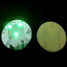 Green Light Up LED Bottle Coaster Stickers For Night Club Glasses Bottle Decoration 3 Lights - 10 Pcs/Pack