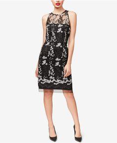 6e4c78501e3  Betsey  Johnson  Embroidered  Mesh  Illusion  Dress  shopstyle  affiliate