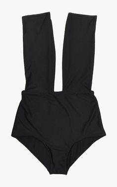 Cocodune Director deep V swimsuit, $182.