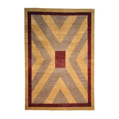 Modern Gabbeh Hand Knotted Natural Dyes Oriental Rug