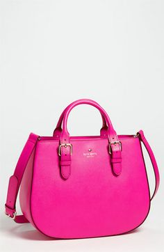 How cute is this little Kate Spade satchel?! Pink, Orange, Aqua, and Yellow!