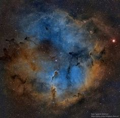 A Nebulosa da Tromba do Elefante. Imagem de Juan Jimenez, 15 dias de registro e mais de uma semana de processamento.