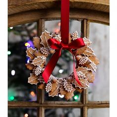 Pepparkakor Christmas wreath