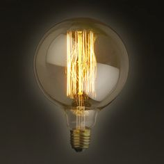 Small / Medium/ Large Edison E27 Globe by LightwithShade on Etsy