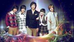 Boys Over Flowers <3  Kim Joon as Song Woo Bin, Kang Han Byul as young Joon Pyo,  Kim Hyun Joong as Yoon Ji Hoo,  Lee Min Ho as Goo Joon Pyo, Koo Hye Sun as Geum Jan Di,Kim Bum as So Yi Jung.