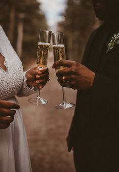Enchanting and Effortless Canmore Elopement | Rocky Mountain Bride Elopement Inspiration, Rocky Mountains, Flute, Enchanted, Champagne, Daughter, Bride, Wedding Bride, Flutes