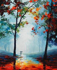 印象派画家 Graham Gercken 一个人的乡愁 风景油画