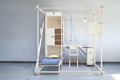 """Thisispaper Magazine """"2,5³ is a minimal living cube. Its inspiration reaches the 60´s and 70´s when many architects and designers were concerned about the idea of modular and mobile living structures and wanted to revolutionarize social canons."""