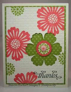 Stampin up Blossoms and punch