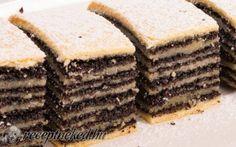 Hajtogatott mákos süti Sweet Pastries, Bread And Pastries, Hungarian Desserts, Torte Cake, Cake Cookies, Baked Goods, Ham, Biscuits, Deserts