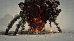 Houdini PyroFX Huge Explosion Hangar