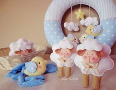 Riquezinha Ateliê: Guirlanda maternidade, ovelhinhas
