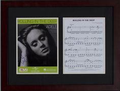 Silent Auction Item Adele autographed sheet music #fundraising #auction https://www.cfr1.org/fundraising-items/