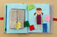 Książeczka sensoryczna (edukacyjna) dla dziecka (opis jak uszyć + wykrój do…