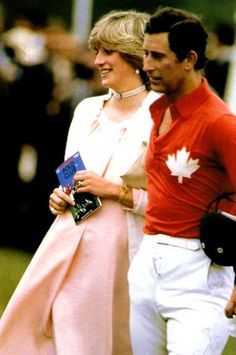 June 14, 1982: Prince Charles Princess Diana at a polo match at Smith's Lawn…