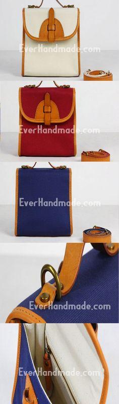 Handmade Leather phone purse stachel bag for women leather shoulder