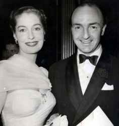 John Profumo and his wife Valerie Hobson.