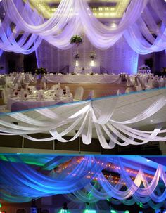 W Drapings Florida: Ceiling Drapings and Wedding Chiffon: Top Reasons to Decorate your Wedding, Special Event or Birthday Celebration with Custom Ceiling Treatments.