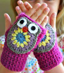 mitones crochet - Buscar con Google
