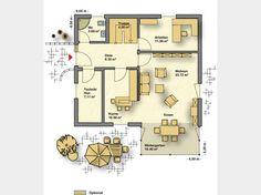 Grundriss EG Creatione Uno M #Einfamilienhaus von Partner Haus. Das Highlight dieses Hauses ist ganz eindeutig der Wintergarten, der den großzügigen Wohnraum erweitert sowie das Gästebad mit Dusche. #floorplan