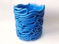 Blue Wiggle Planter – Fredericks and Mae Slab Pottery, Ceramic Pottery, Pottery Art, Ceramic Art, Pottery Ideas, Clay Cup, Clay Bowl, Clay Art Projects, Ceramics Projects