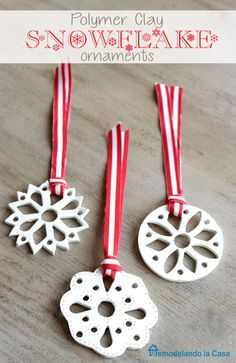 Absolutely Gorgeous Handmade Christmas Ornaments Clay - 9 diy white clay christmas ornaments to try