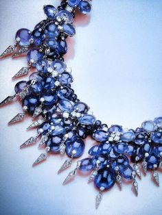1940s Cartier sapphire and diamond necklace.  The Duchess of Windsor.