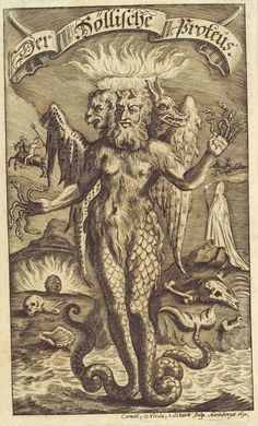 Proteus, from a book by Erasmus Francisi, 1695