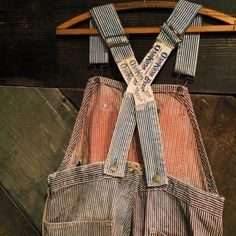 Oshkosh #denim #slingbacks #overalls #40s #hickory #reddye with repairs  #raggedythreads #obsessed ❤️