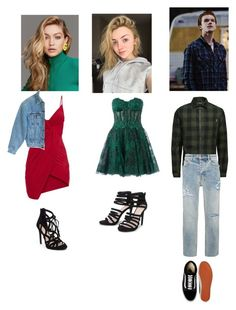 """""""OOTD Arlene Quinn, PamPam Isley and Jerome Valeska"""" by baby-lady-j ❤ liked on Polyvore featuring Jessica Simpson, Zuhair Murad, Vans, Jack & Jones, Givenchy and Levi's"""