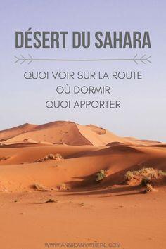 La visite du désert du Sahara est un incontournable lors d'un voyage au Maroc. À découvrir dans cet article: comment s'y rendre, les endroits à visiter sur la route, dans quels campements berbères dormir et ce que vous devez mettre dans votre valise pour dormir dans le désert. #Sahara #Maroc
