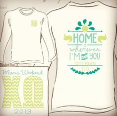 We may not have Moms Weekend, but I'm OBSESSED...  minus the chevron letters.