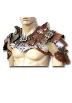 Larp shoulder armor robbers, brown