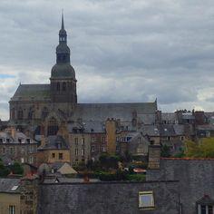 Church view from the walls! #Dinan
