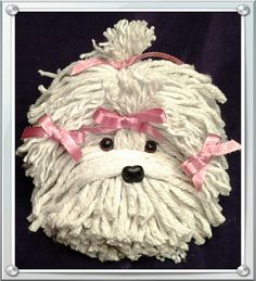 Mop Puppy Dog  Havanese  Shih Tzu  Maltese  by MopDogsandCrafts