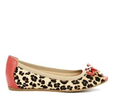 City Chic || animal print flats. Wear with ankle pants or simple black dress and tights.