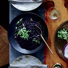 This striking black rice gets flavor from fresh ginger, cardamom and shallot. Get the recipe at Food & Wine.