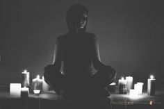 candle silhouette idea - self portrait