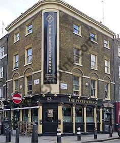 The corner of Lambs COnduit Street and Great Ormond Street - great pub!