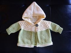Free Pattern: One Skein Hooded Baby Sweater | REPINNED
