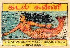 Mermaid! - Indian matchbox