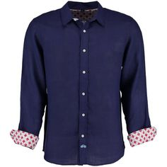 Tobias Clothing - Karnataka Navy Linen Shirt (7,085 INR) ❤ liked on Polyvore featuring men's fashion, men's clothing, men's shirts, men's casual shirts, mens collared shirt, classic fit mens shirts, mens navy blue shirt and mens long sleeve collared shirts