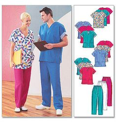 Scrubs Pattern for Men and Women, McCall's M3253 Size XL XXL, Uniform Essentials, Medical Scrubs Pattern on Etsy, $4.49 CAD