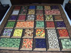 Fruits Vegetables in attic windows from Quilting Board
