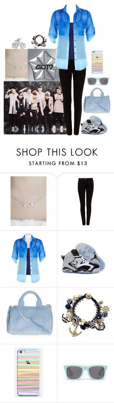 """""""Come and Get It, I GOT7!!!"""" by abbysm17es ❤ liked on Polyvore featuring kitsch island, Halo, Retrò, Alexander Wang and Reeds Jewelers"""
