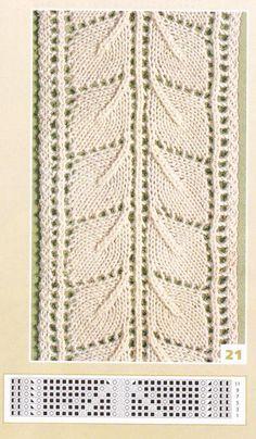 nice beautiful knitting stitch pattern lace aran