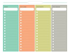 Chore Chart (Free Printable) ~ daily, weekly, monthly, and seasonal!