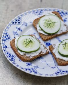 Cucumber Rye Toasts - I could make these blind-folded!....but oh so yummy!